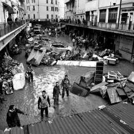 Devastation caused by the floods