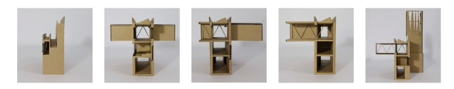 Sectional Models showing the 4m truss structure designed to create the large cantilevers