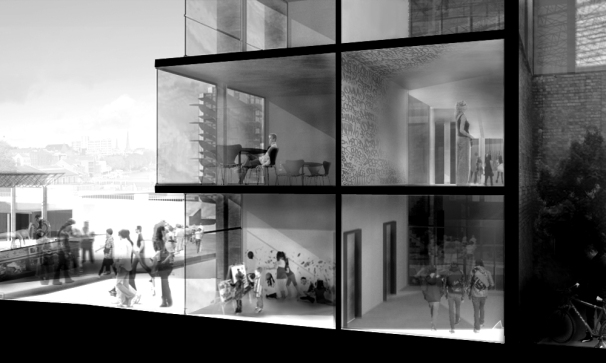 2nd Year, Bristol : Atelier Sectional Perspective of studios