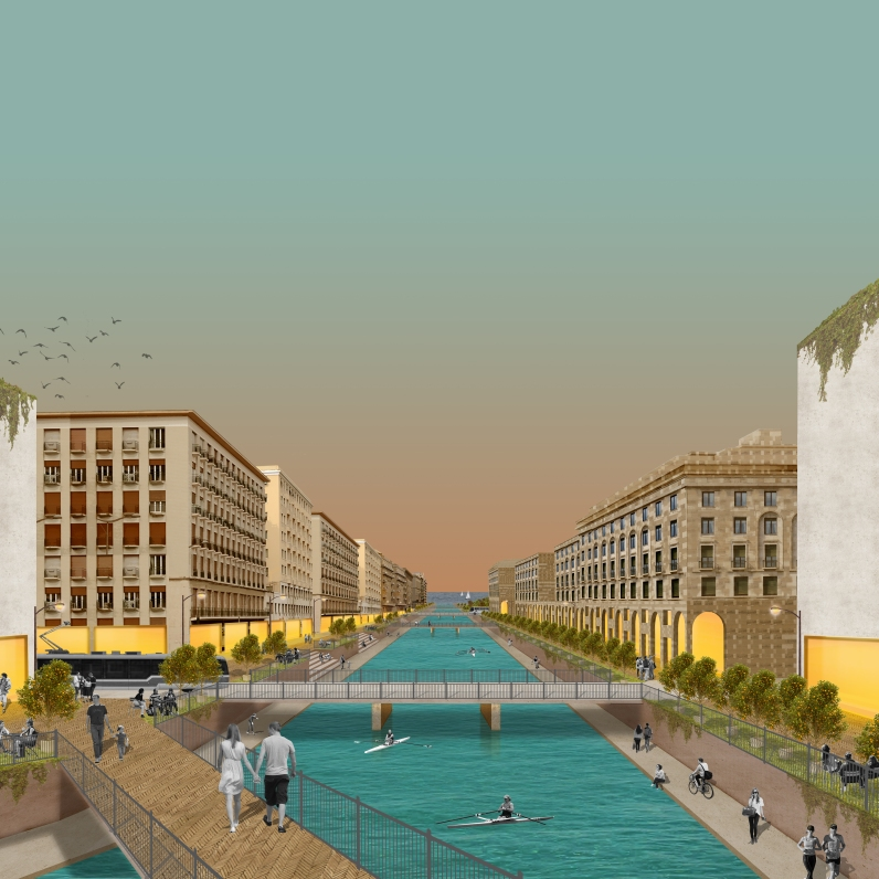 Visual of reimagined uncovered river