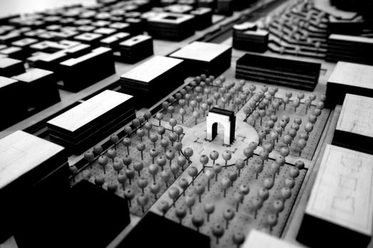 Genoa Masterplan Model, Courtyard for the city